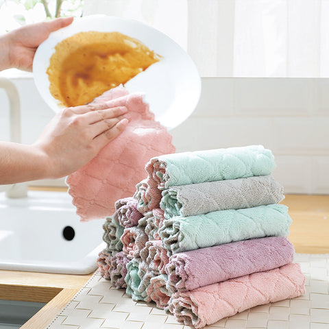 Absorbent Microfiber kitchen  Cloth High-efficiency