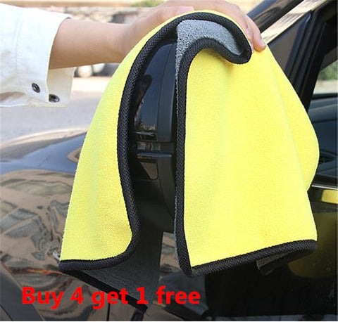metal car wash cleaning double face towel