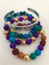 Load image into Gallery viewer, Rainbow Lava Bead Bracelet