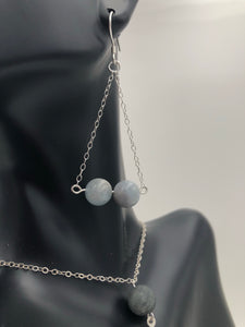 Beautiful Natural Aquamarine Gemstone Earrings