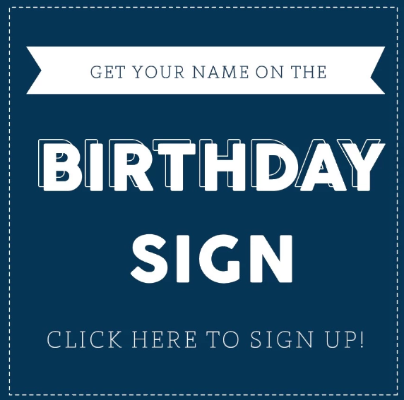 DIGITAL BIRTHDAY SIGN - SIGNUP