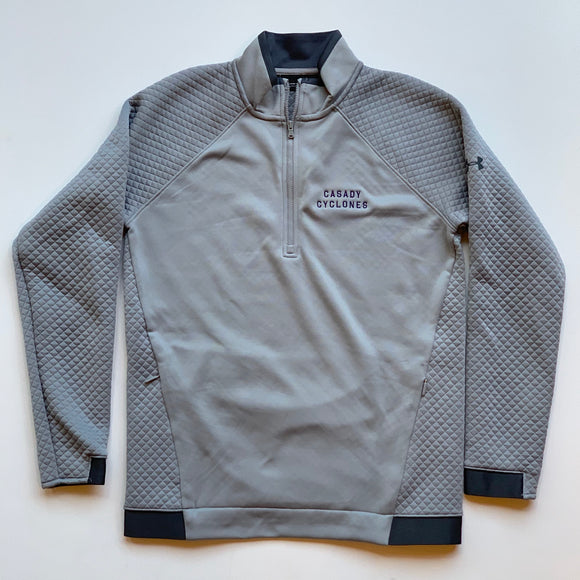 Men's Under Armour Quilted 1/4 Zip Pullover - Grey