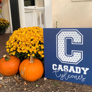 "Casady ""C"" (Polkadots) Yard Sign"