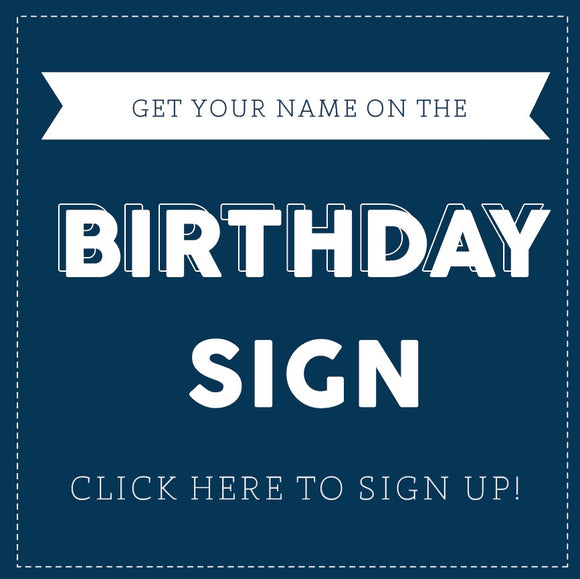 DIGITAL BIRTHDAY SIGN - SIGN UP