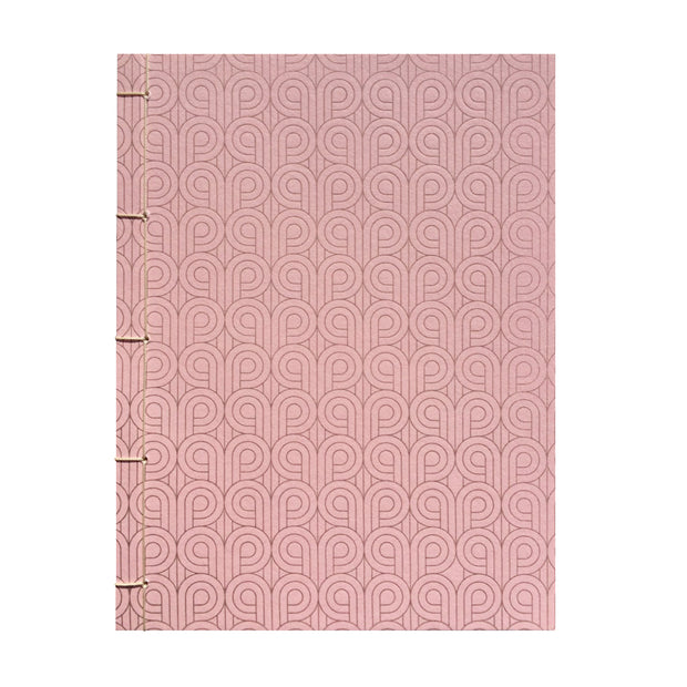 Bohemia Paper Notebook with japanese binding, pink
