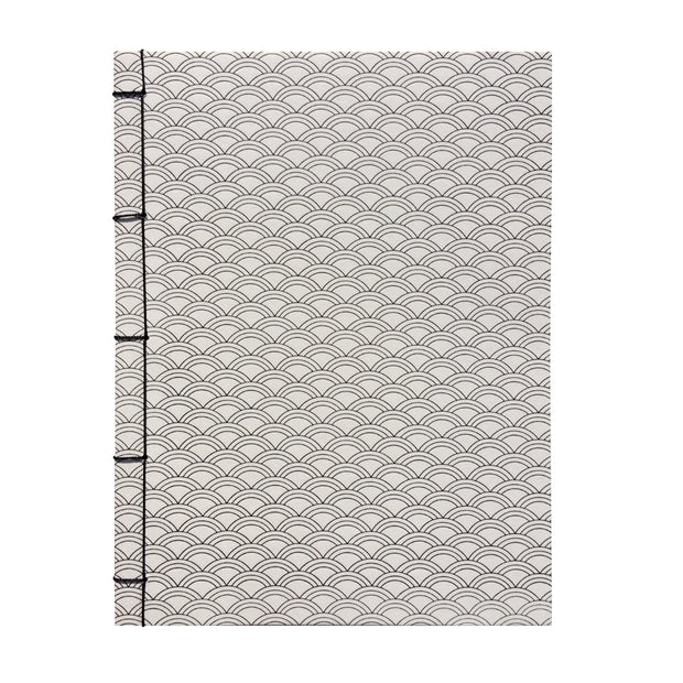 Bohemia Paper Notebook with japanese binding, scale, white