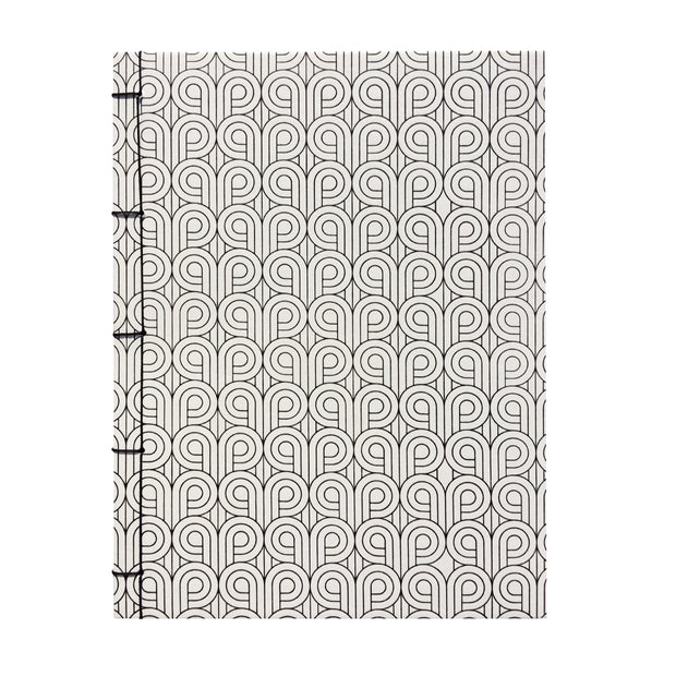 Bohemia Paper Notebook with japanese binding, wind, white