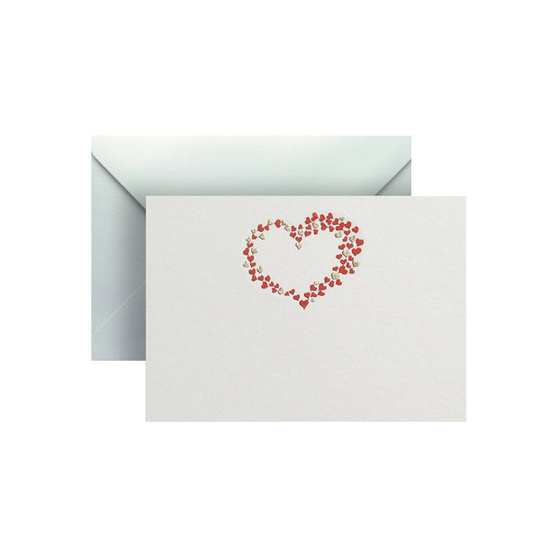 Hearts, enclosure card & envelope
