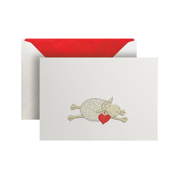 Sheep with a Heart Greeting Card