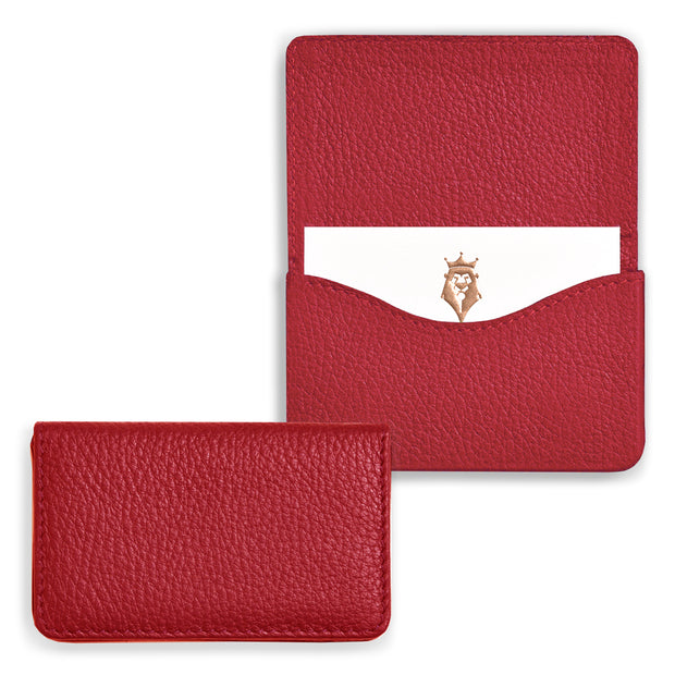 Bohemia Paper Leather Business Card Case Red