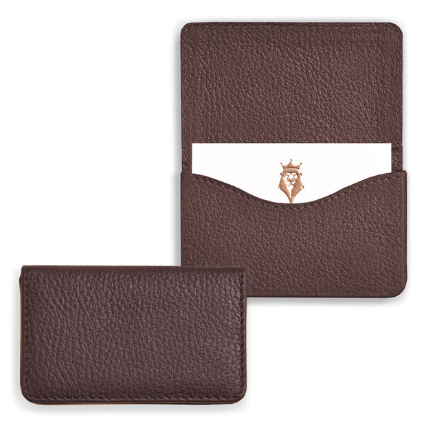 Bohemia Paper Leather Business Card Case Chocolate