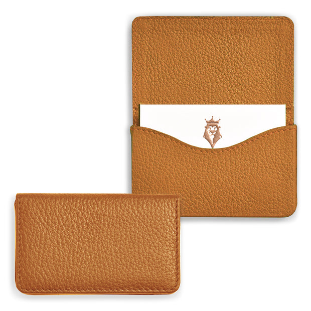 Bohemia Paper Leather Business Card Case Cognac