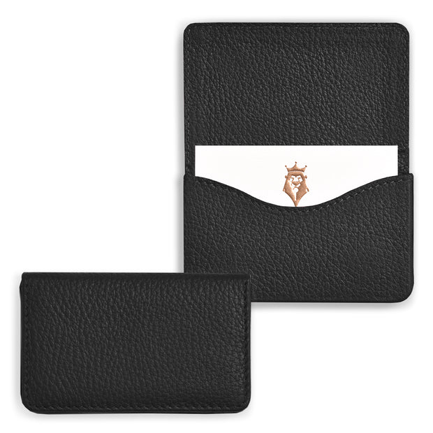 Bohemia Paper Leather Business Card Case Black