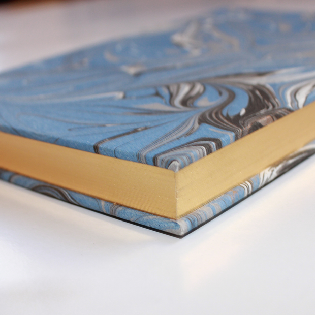 Marbled - Rossi hardcover notebook, gilt edges
