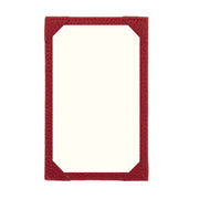 Bohemia Paper Leather Jotter Note Holder Red