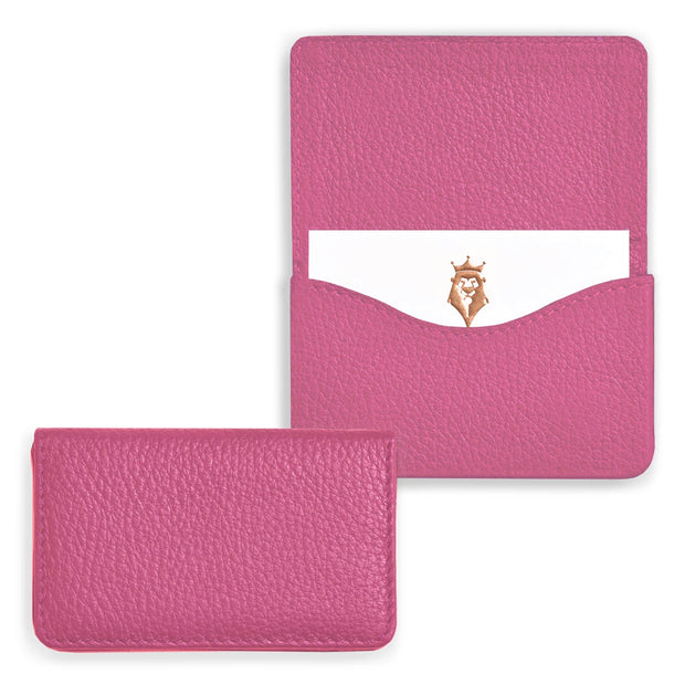 Bohemia Paper Leather Business Card Case Pink