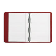 Bohemia Paper Leather Notebook Red
