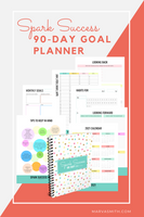 Spark Success 90 Day Goal Planner Deluxe Edition by Marva Smith - display of inside pages