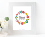 Blessed Easter Wall Art Set {6 prints}