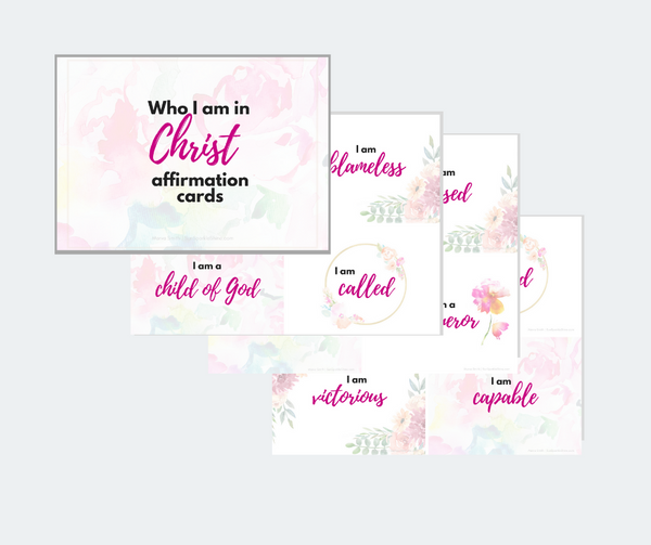Affirmation Cards - Who I am in Christ {2 sets}