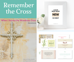 New life in Christ bundle - Remember the Cross ebook, frame art, Scripture cards