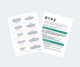 Sparkle and Shine prayer cards - PRAY - 2 page display