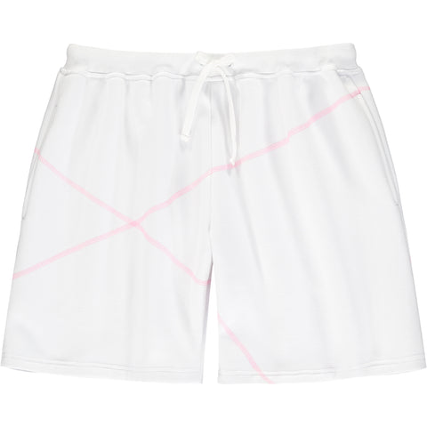 Stitched Shorts White/Pink