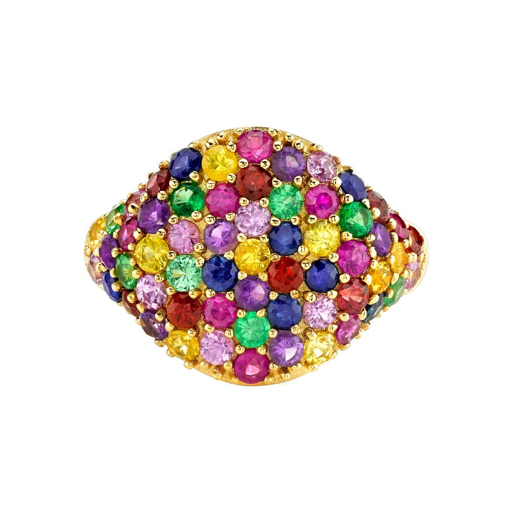 Rainbow Cocktail Ring
