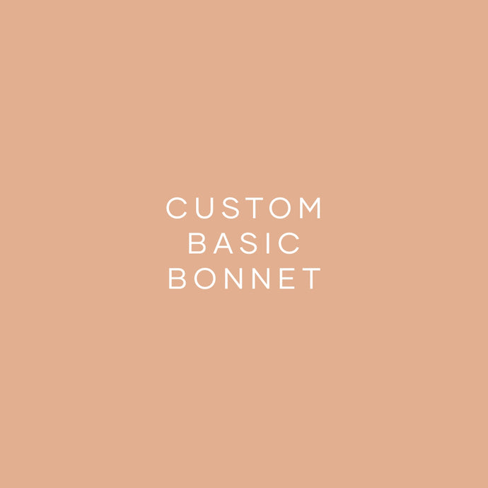 Custom Bonnet - Basic