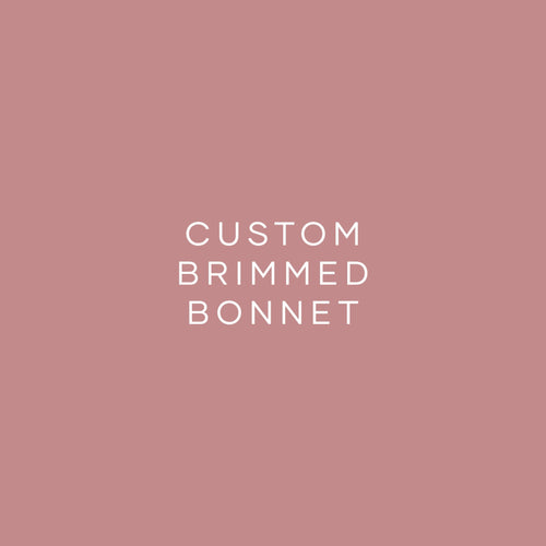 Custom Bonnet - Brimmed