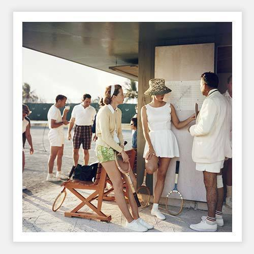 Tennis in the Bahamas by Slim Aarons - FINEPRINT co