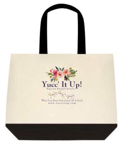 Yucc' It Up!® Canvas Tote - Summer flowers
