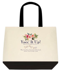 Yucc' It Up! Canvas Tote - Summer flowers