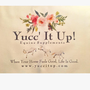 Yucc' It Up!™ Canvas Tote - Summer flowers