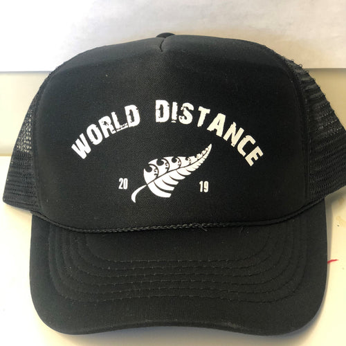 Unisex Black World Distance Hat