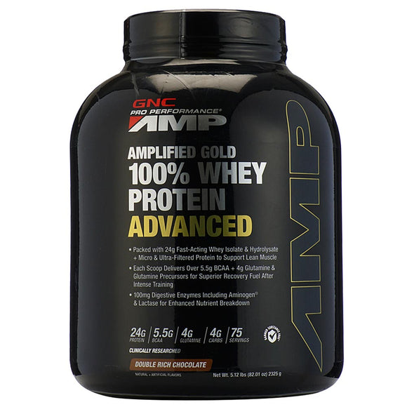 GNC AMP Gold 100% Whey Protein Adv 5 lbs