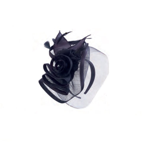 Sinamay Fascinator in Black