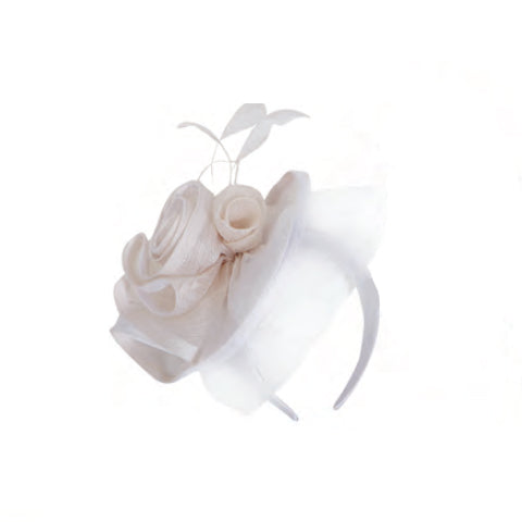 Sinamay Fascinator in Biege