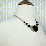 Black Pendant Collar Necklace