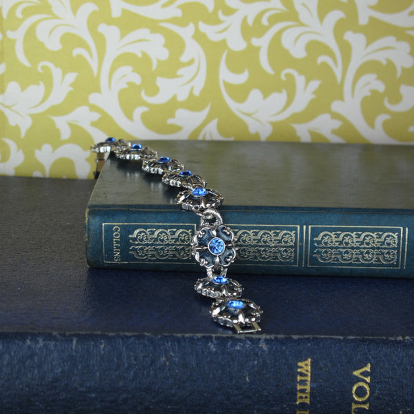 Enamel And Crystal Flower Bracelet