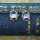 Tanzanite Purple Drop Earrings