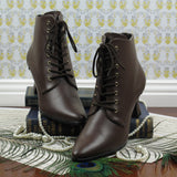 Victorian Style Low Cut Boots in Brown