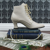 Victorian Style Low Cut Boots in Cream