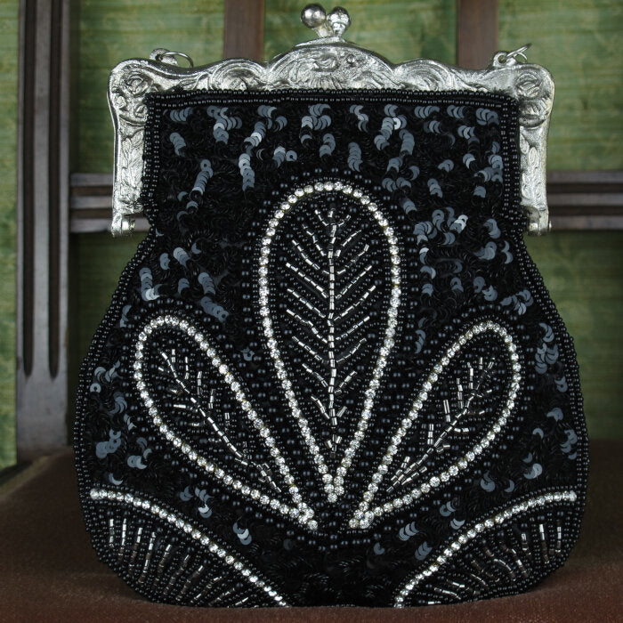 Art-Deco Designed Purse in Black
