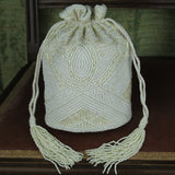 Art-Deco Bucket Bag in Cream