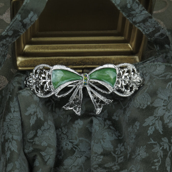 Green Bow Barrette