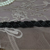 Black Beaded Headband