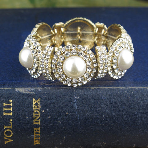 Art-Deco Stretch Bracelet