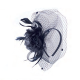 Silk Rose Fascinator in Black