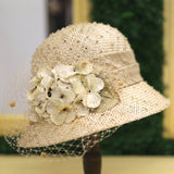 Sisal Veil Cloche In Cream